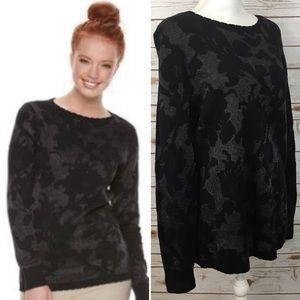 Elle Black Floral Sweater